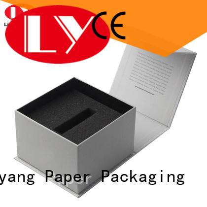 folding cosmetic gift packaging black Liyang Paper Packaging company
