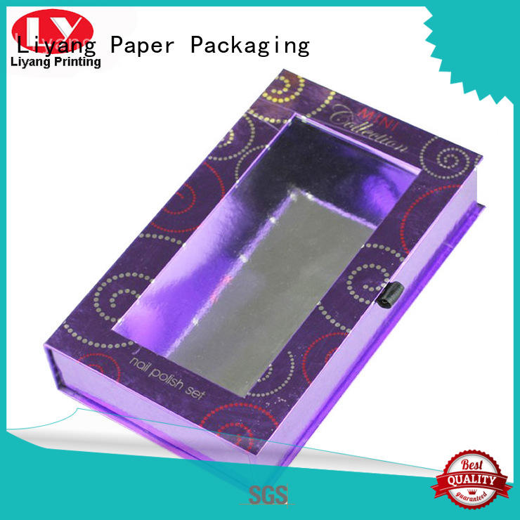Liyang Paper Packaging popular pillow box with ribbon handle tab for lipstick
