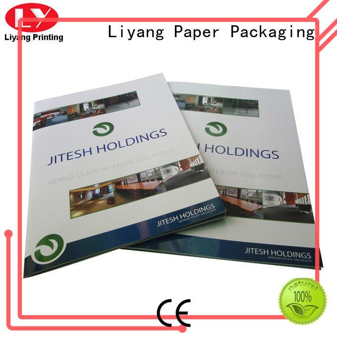 folder custom catalog printing paper for paper tag Liyang Paper Packaging