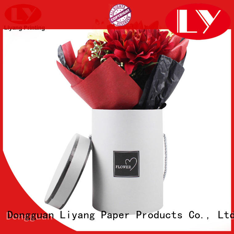 Liyang Paper Packaging custom paper flower box white flower for rose