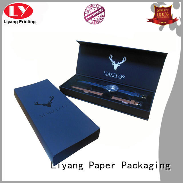 black soft gift Liyang Paper Packaging Brand jewelry gift boxes factory