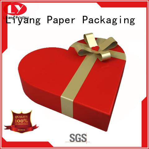 kraft special gift box free sample for chocolate Liyang Paper Packaging