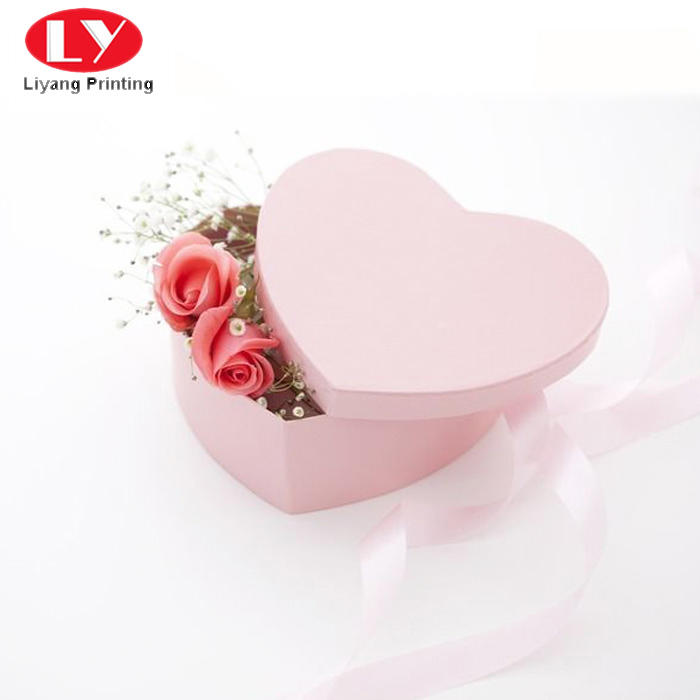 Liyang Paper Packaging handle flower gift box distinctive designs for gift