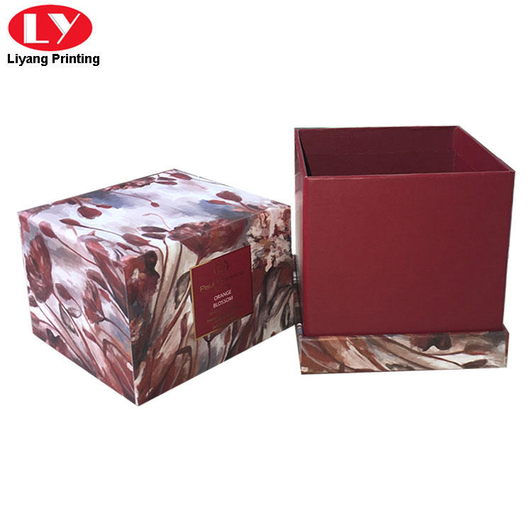 Colorful square paperboard rigid candle box