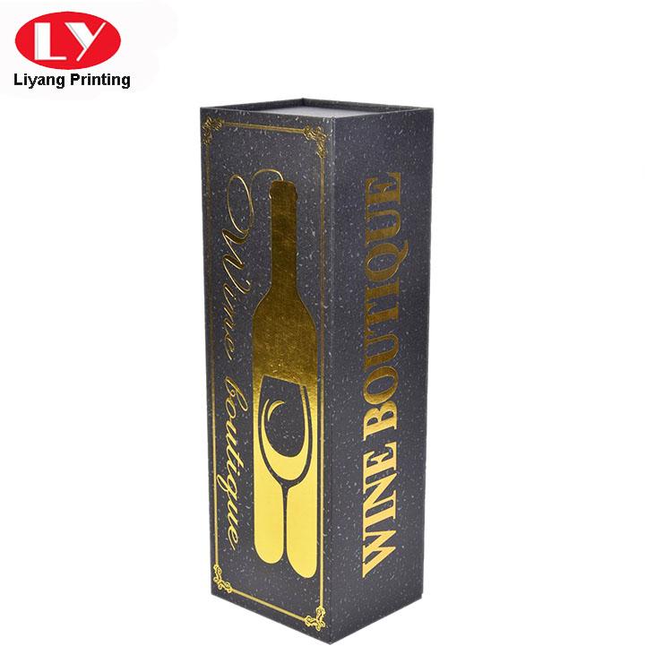 Single Bottle Luxury Wine Cardboard Box with Satin Foam Insert-5