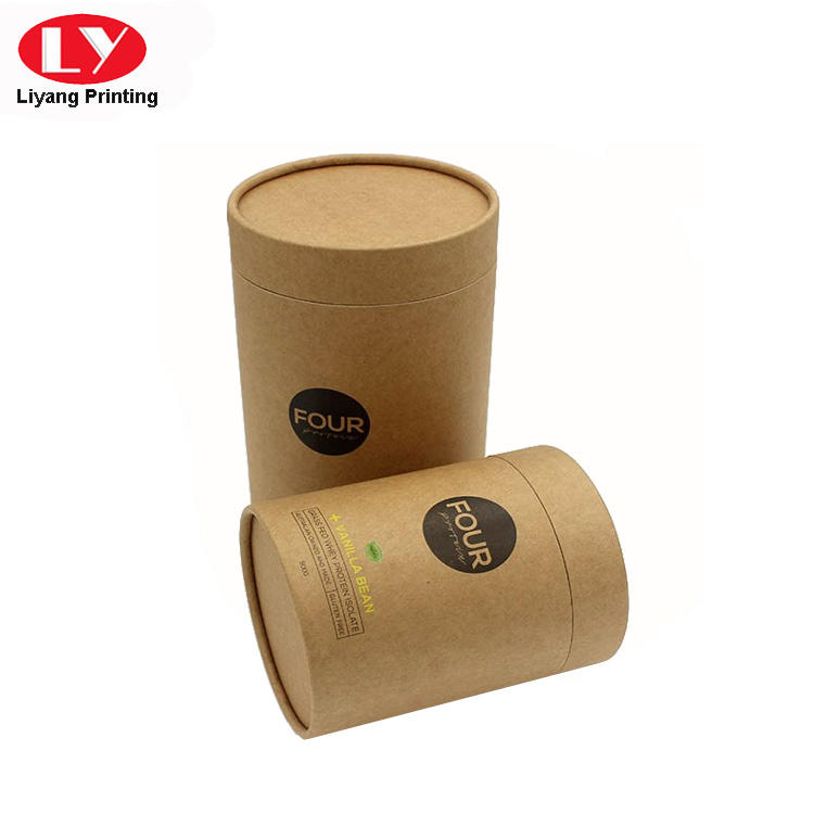Recycled Kraft Paper Cardboard Round Box
