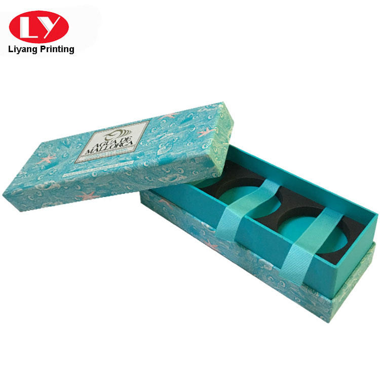 2019 popular hand made soap gift box for 3 pieces