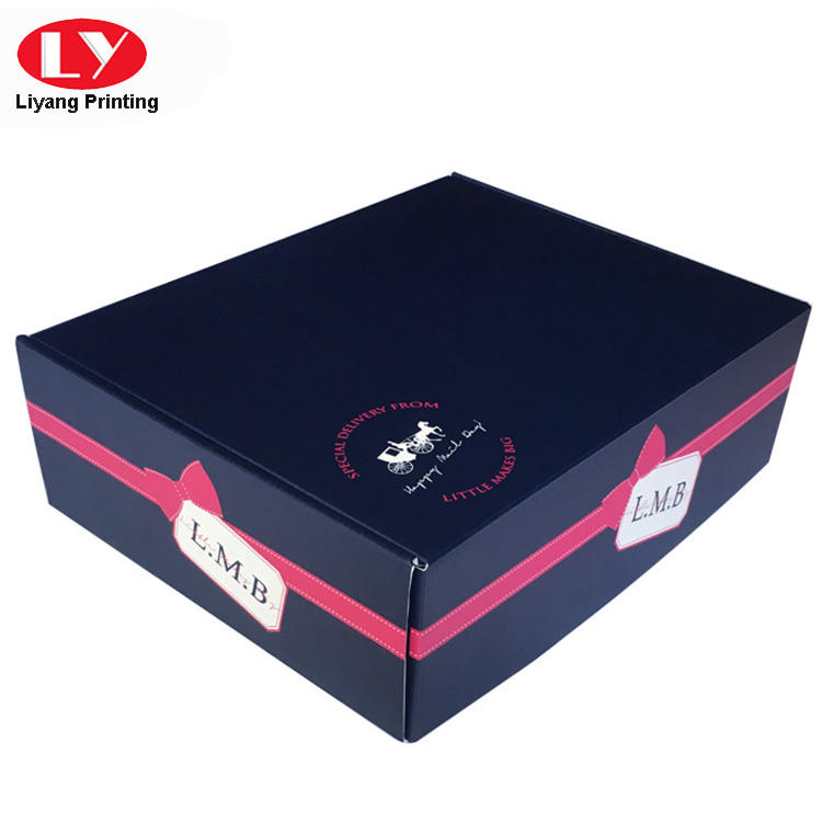 Foldable corrugated shipping mailer box