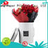 round flower box heart pink cardboard flower boxes round Liyang Paper Packaging Brand