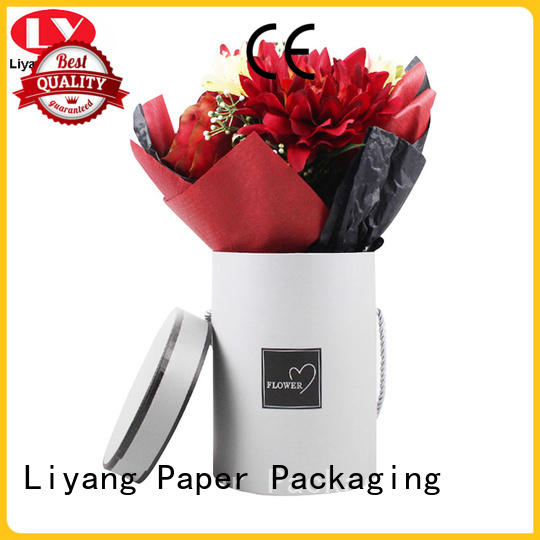 pink custom flower box display for cosmetics Liyang Paper Packaging