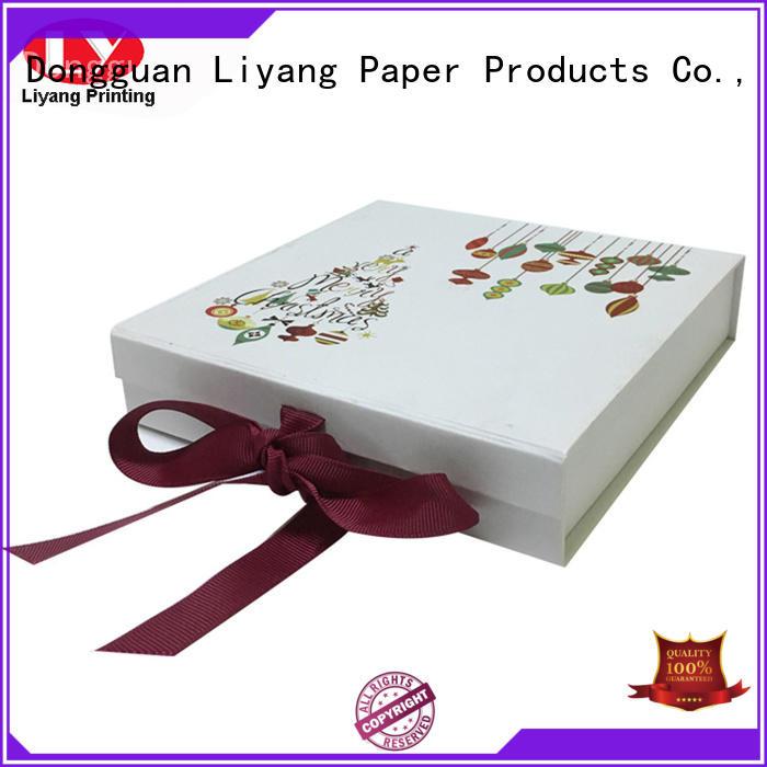 Wholesale blue clothing paper box Liyang Paper Packaging Brand