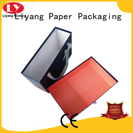 drawer clothing boxes OEM for white ribbon Liyang Paper Packaging