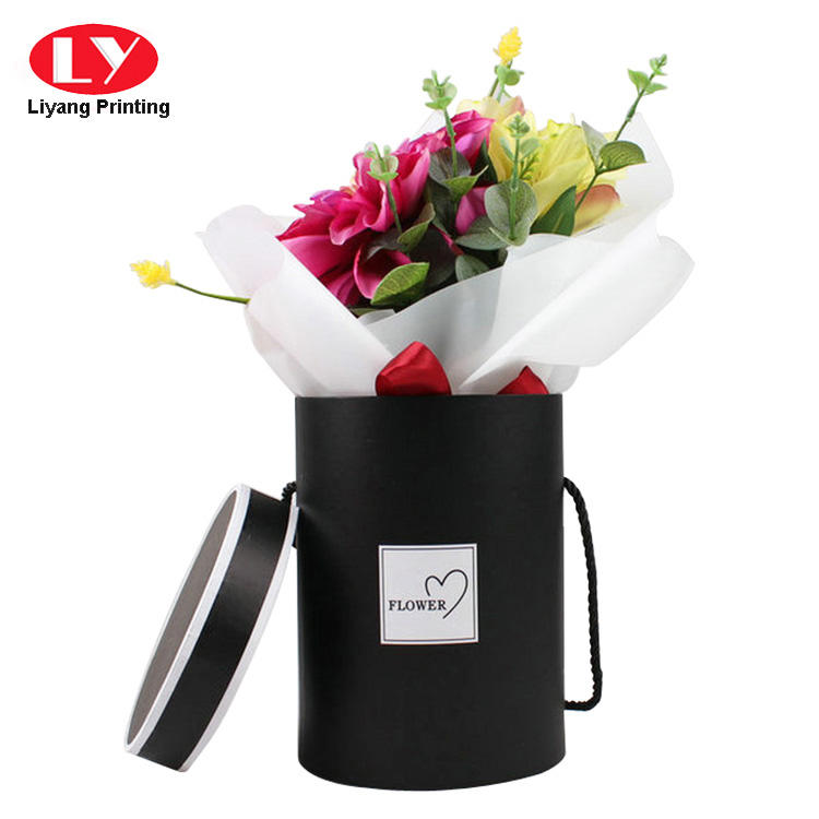 Liyang Paper Packaging printed paper flower box graphic artwork for florist-2