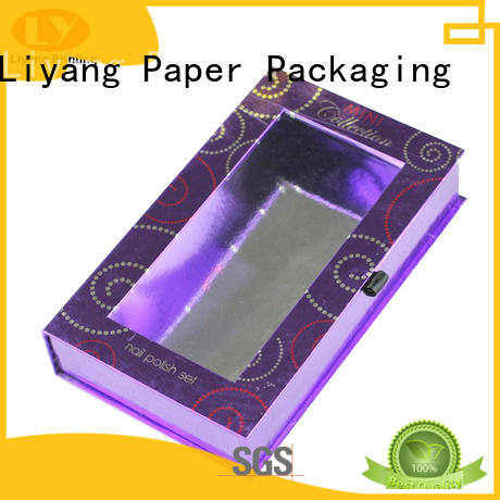 Quality Liyang Paper Packaging Brand cosmetic gift packaging nail