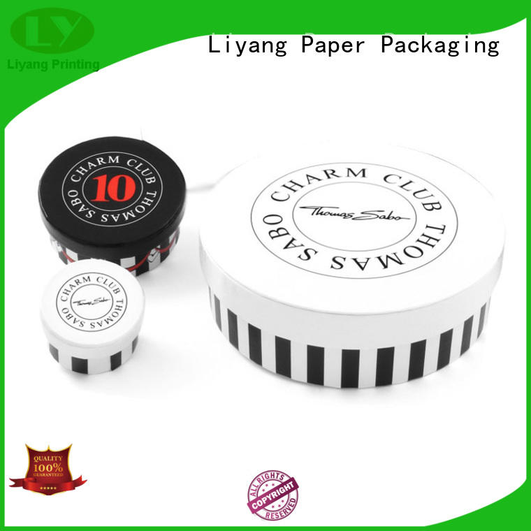 custom color round box packaging all sizes for gift Liyang Paper Packaging
