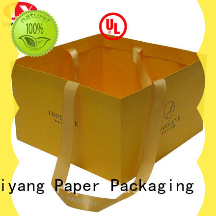 ribbon handle paper gift bags full and bright for women Liyang Paper Packaging