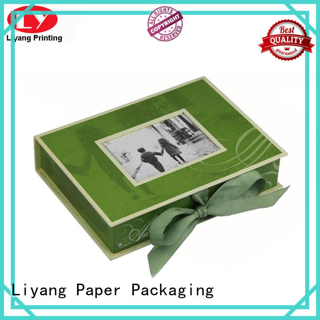 folding square boxes with lids for bakery Liyang Paper Packaging