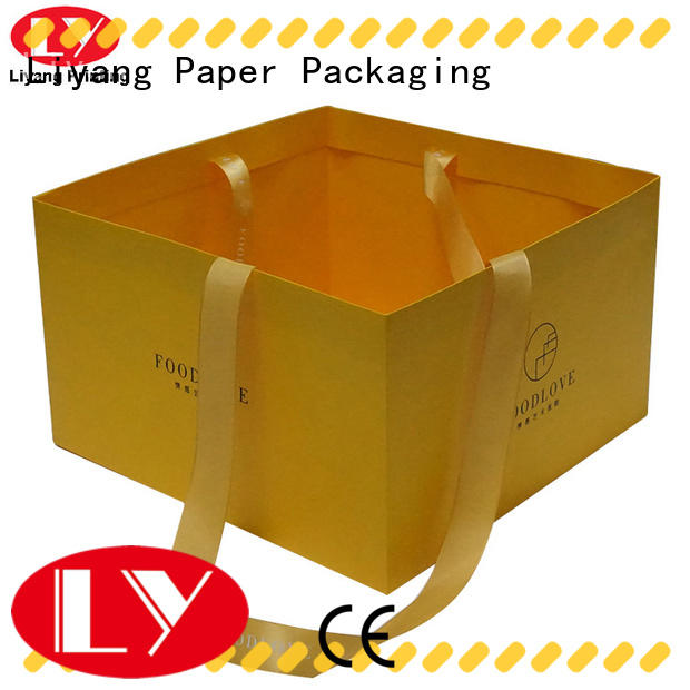 logo printed paper gift bags full and bright for lady Liyang Paper Packaging