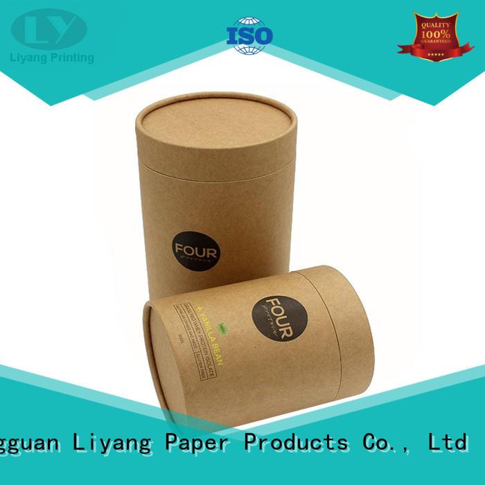 Liyang Paper Packaging Brand kraft packaging round paper box logo