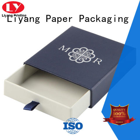 Liyang Paper Packaging drawer custom paper jewelry boxes for necklace