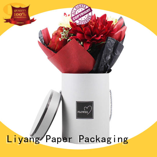Liyang Paper Packaging packaging florist flower boxes round shape for gift packing