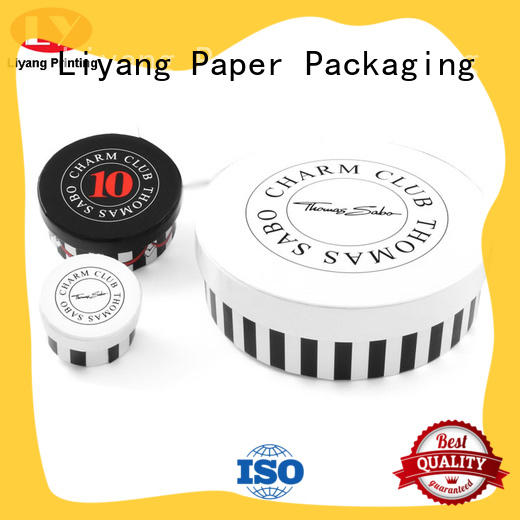 round gift box custom design for bracelet Liyang Paper Packaging