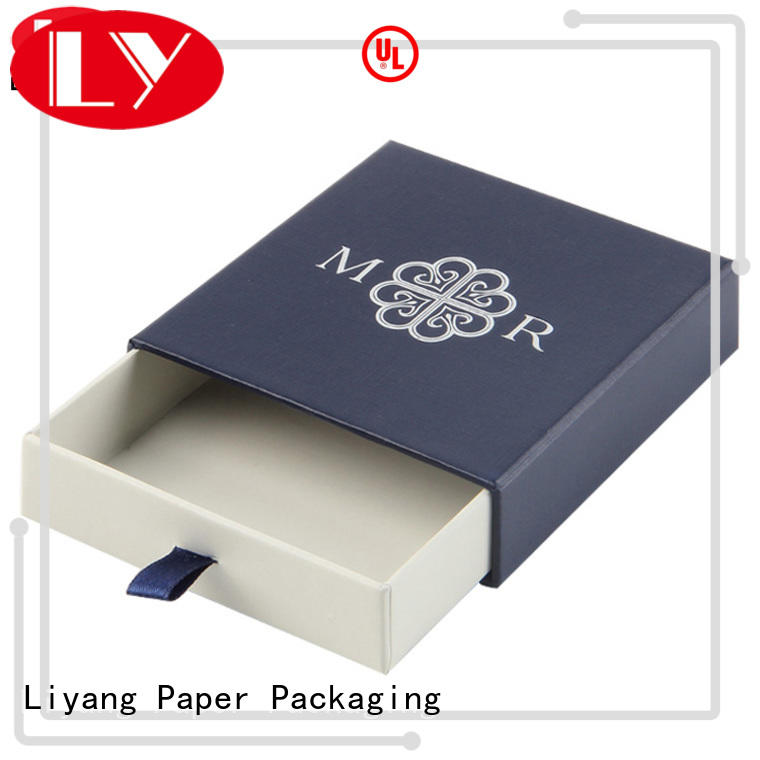 slide jewelry gift boxes pull for necklace Liyang Paper Packaging