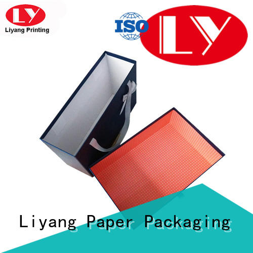 handle custom clothing boxes pack for wedding dress Liyang Paper Packaging