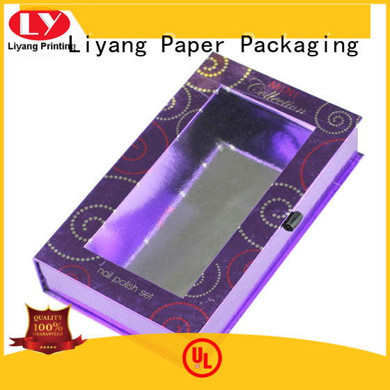 Liyang Paper Packaging Brand nail folding polish cosmetic gift box manufacture