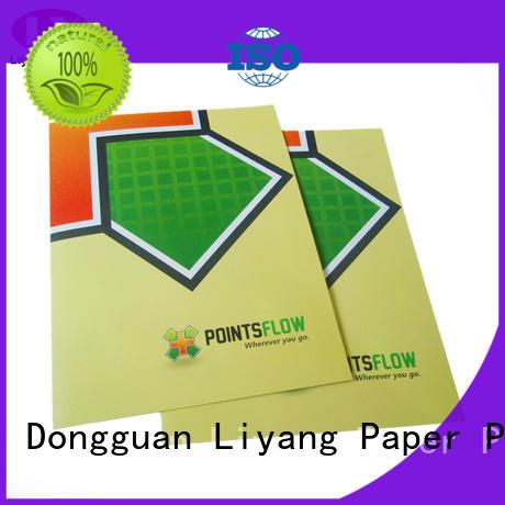 printing catalog printing two pockets sticker label Liyang Paper Packaging
