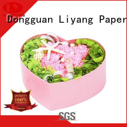 Custom Made Heart Shape Gift Box Pink for Flower Display