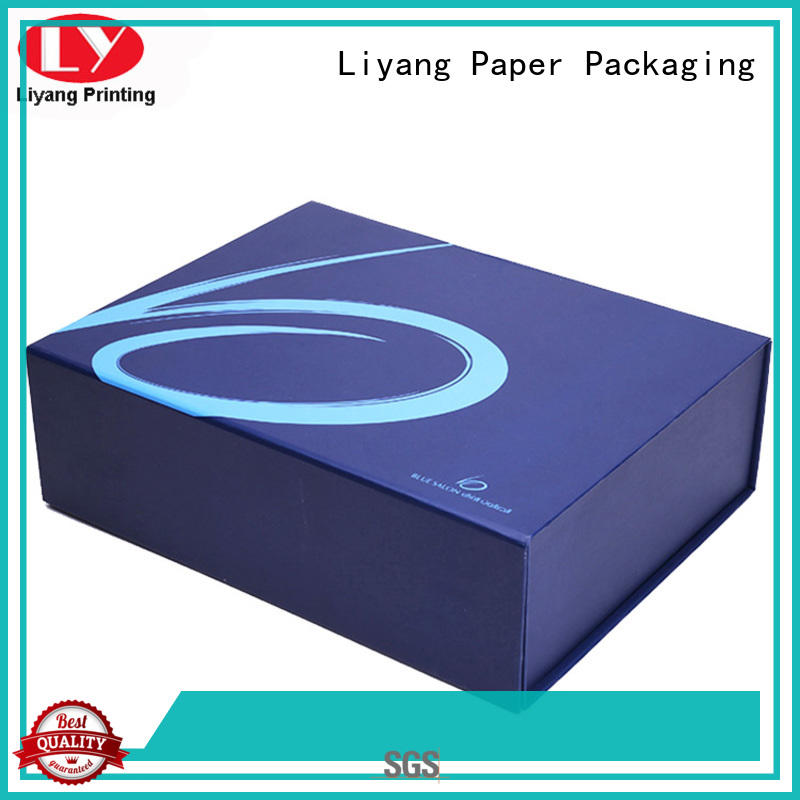Liyang Paper Packaging double gift boxes for clothes custom logo