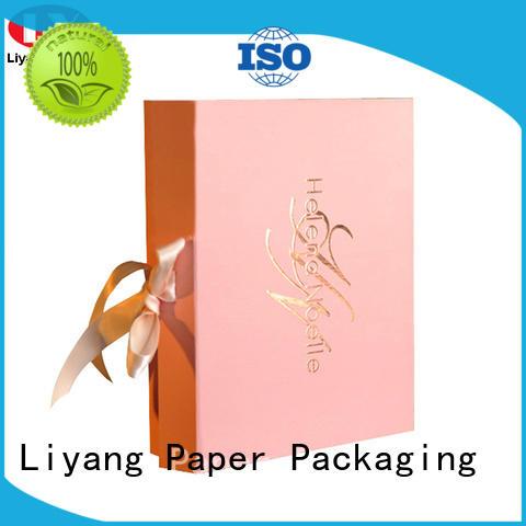 Hot cosmetic gift packaging window Liyang Paper Packaging Brand