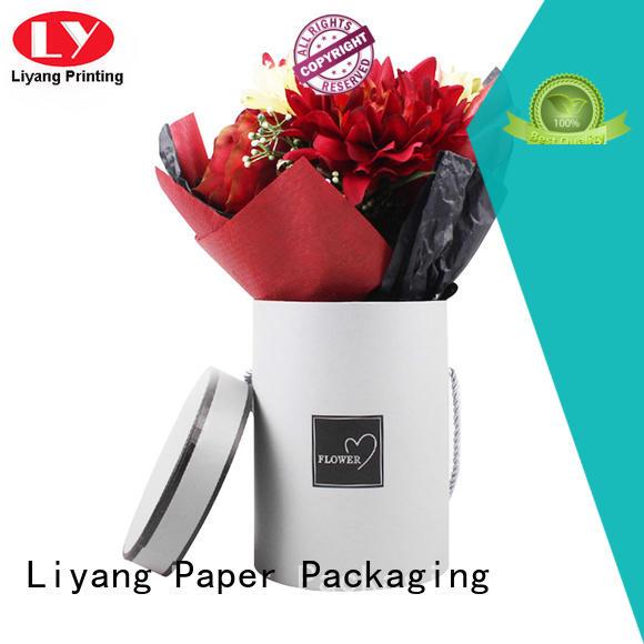 Liyang Paper Packaging Brand display customized made flower cardboard flower boxes