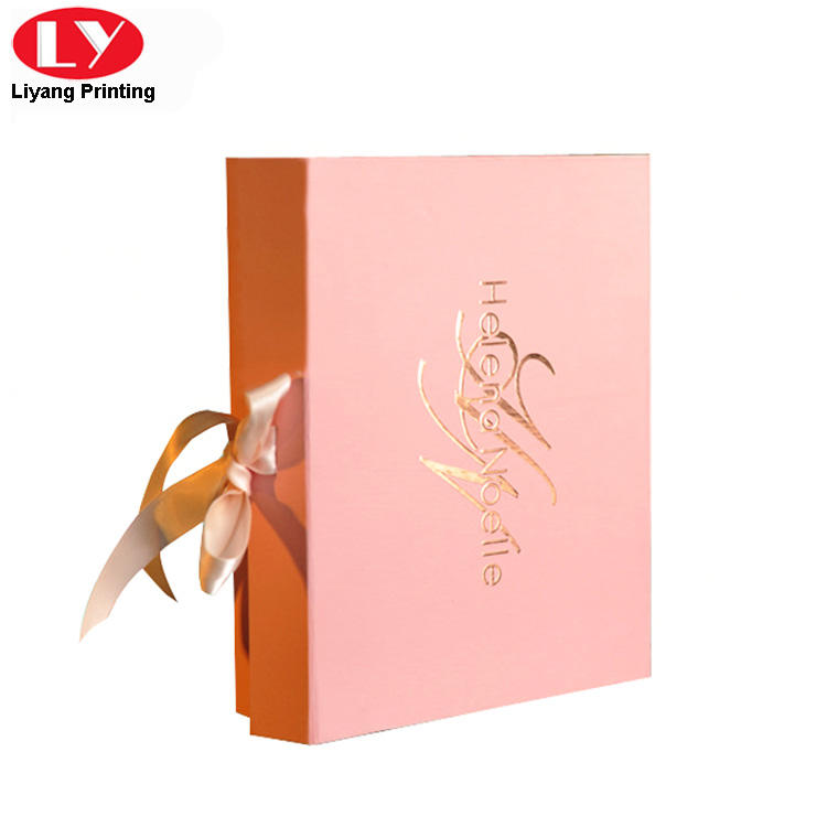 pink cosmetic gift box board factory price for packaging-1