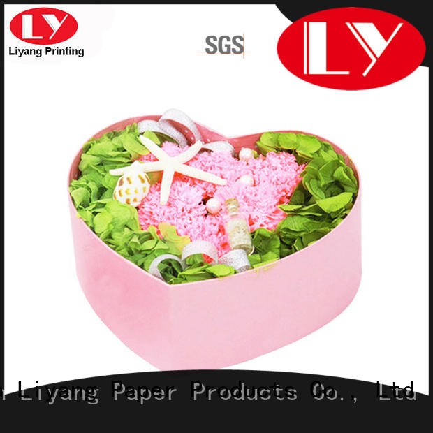 cardboard round flower box white flower for delivery Liyang Paper Packaging
