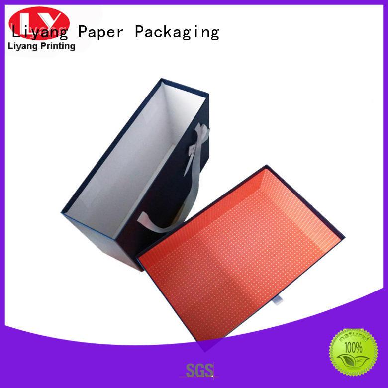 Liyang Paper Packaging magnetic clothing shipping boxes custom logo