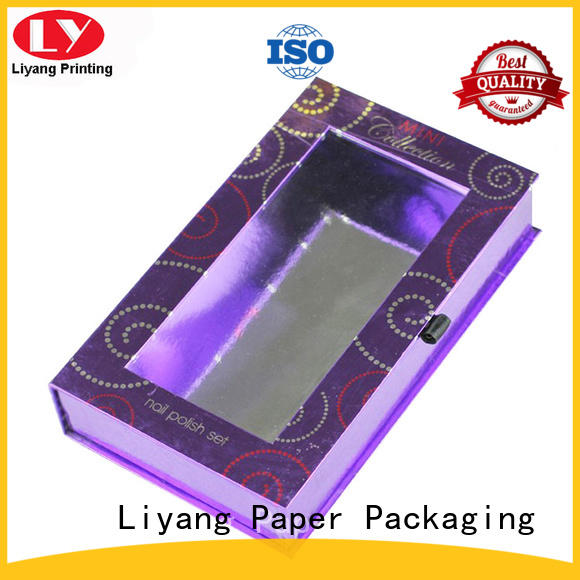 Liyang Paper Packaging Brand window lipstick popular cosmetic gift box manufacture