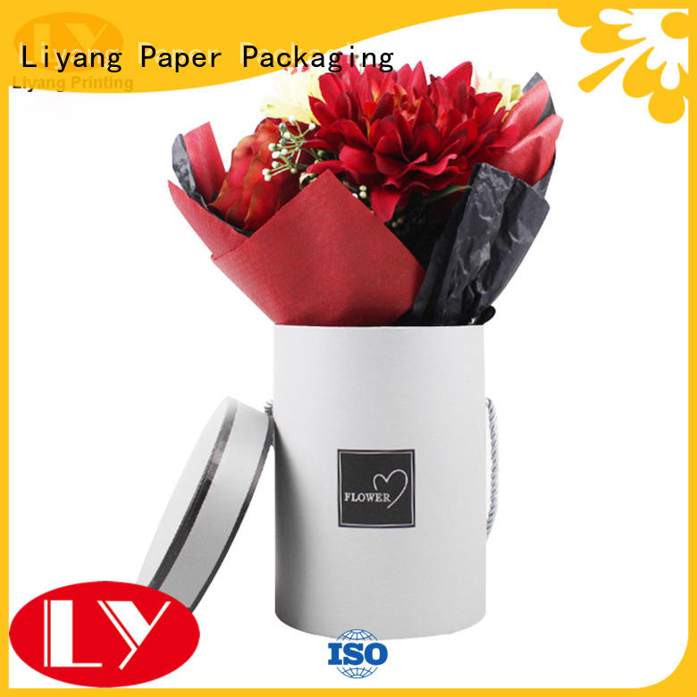 heart twist round flower box customized Liyang Paper Packaging company