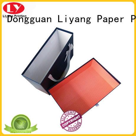 clothing paper box drawer flat Liyang Paper Packaging Brand clothing gift boxes