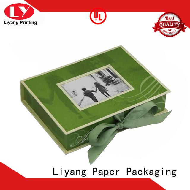 Green Cardboard Magnetic Photo Frame Gift Box