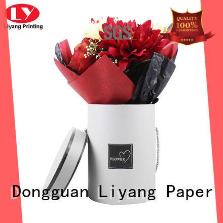 Liyang Paper Packaging printed paper flower box graphic artwork for florist