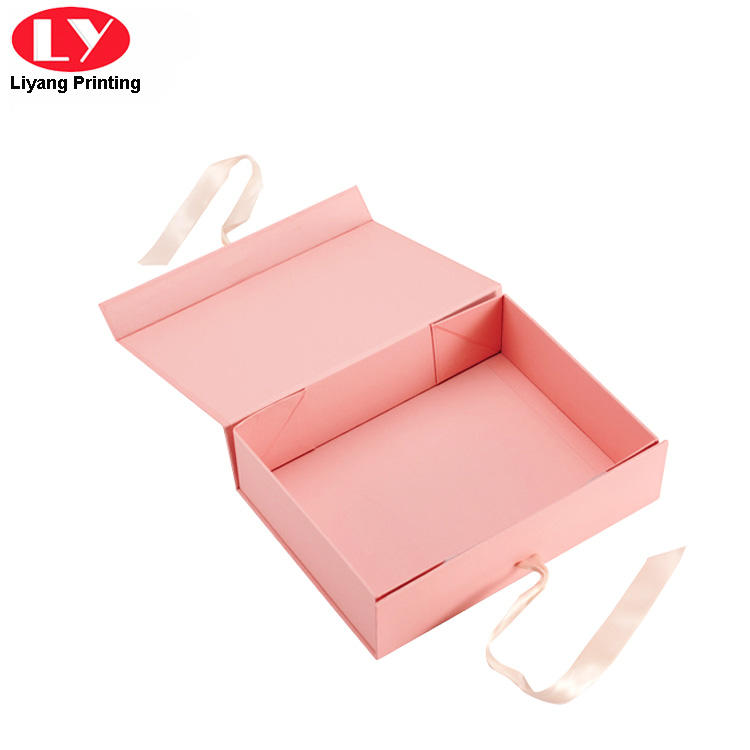 pink cosmetic gift box board factory price for packaging-3