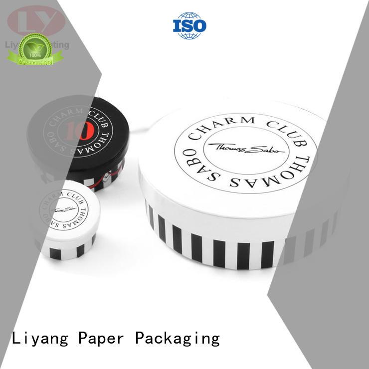 Liyang Paper Packaging custom design round box fast delivery for bracelet