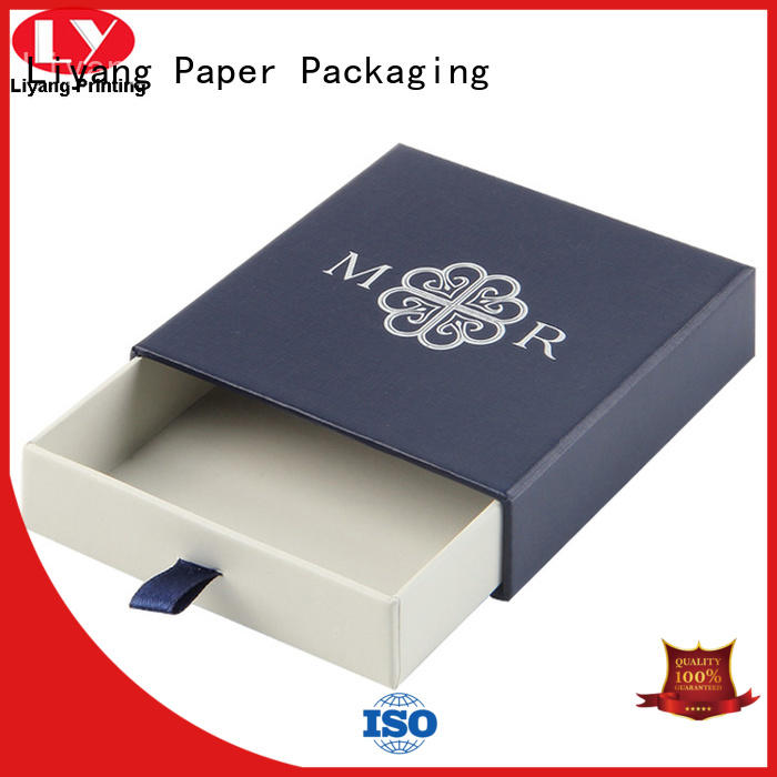 Liyang Paper Packaging black jewelry paper box slide for gift