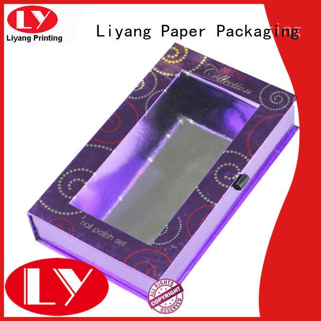 Custom ribbon luxury cosmetic gift box Liyang Paper Packaging gift
