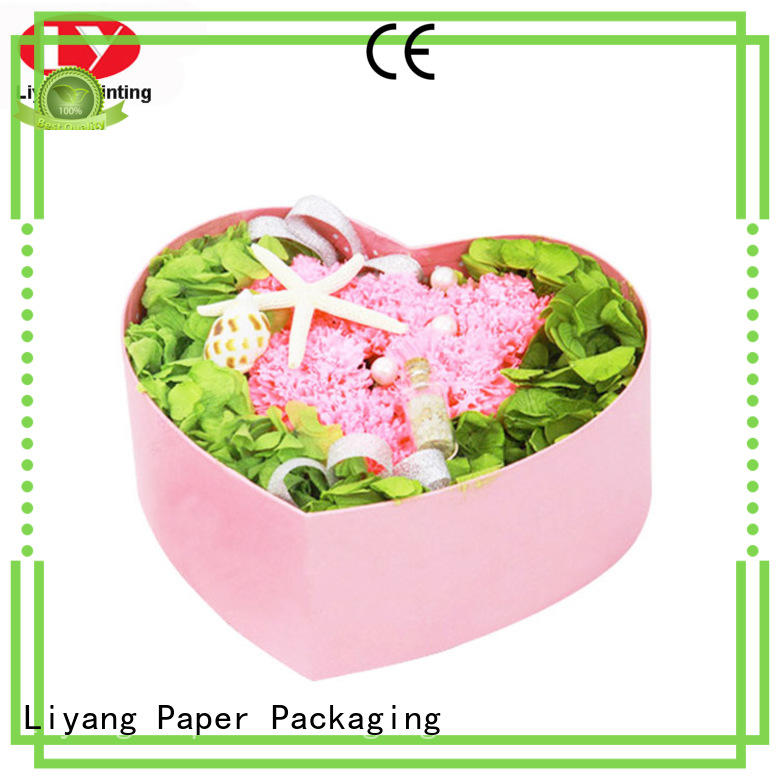 gift cardboard Liyang Paper Packaging Brand round flower box factory