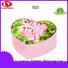 round flower box pink made cardboard flower boxes manufacture