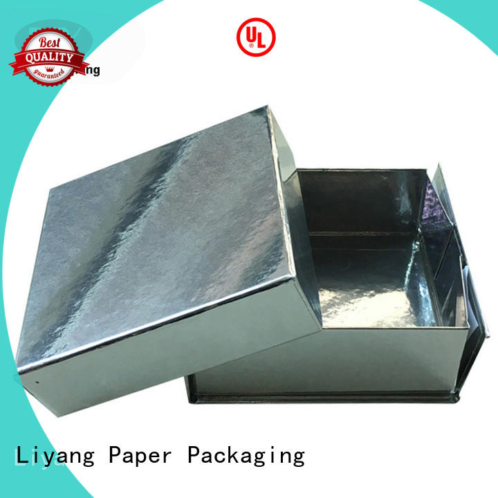 square foldable gift boxes pvc for christmas Liyang Paper Packaging