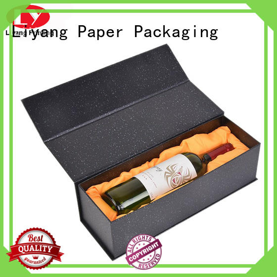 Liyang Paper Packaging color printed paper wine box for wholesale for shop